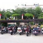 Parkplatz vor der Gaststätte