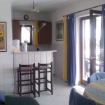 Wohnzimmer mit Küche oberes Apartment