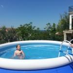 Auf Wunsch kann auch der Pool benutzt werden