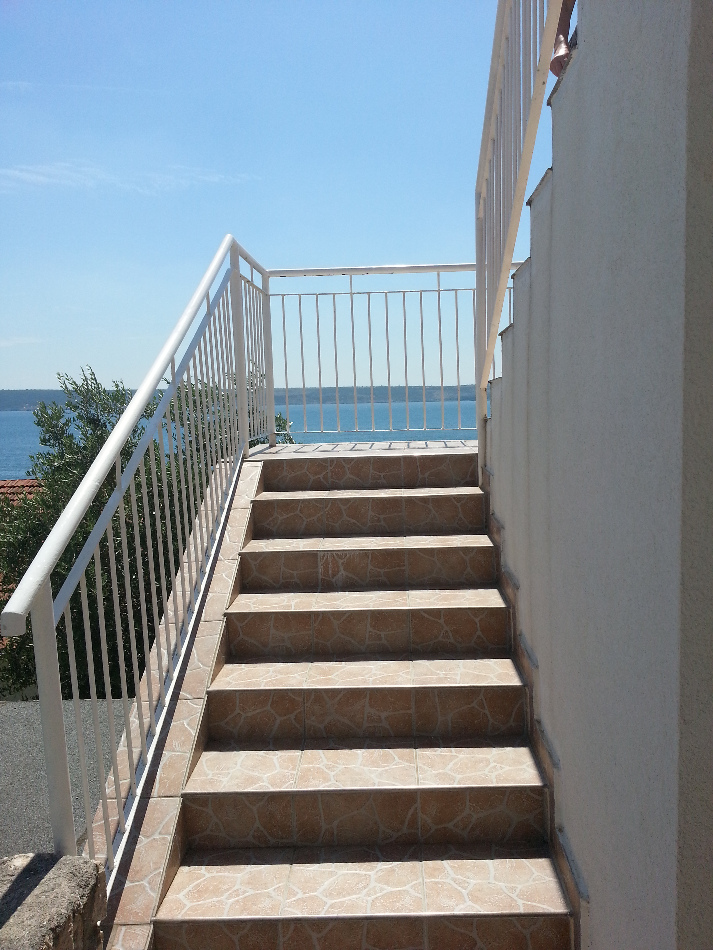 Treppe zum Apartment 2OG